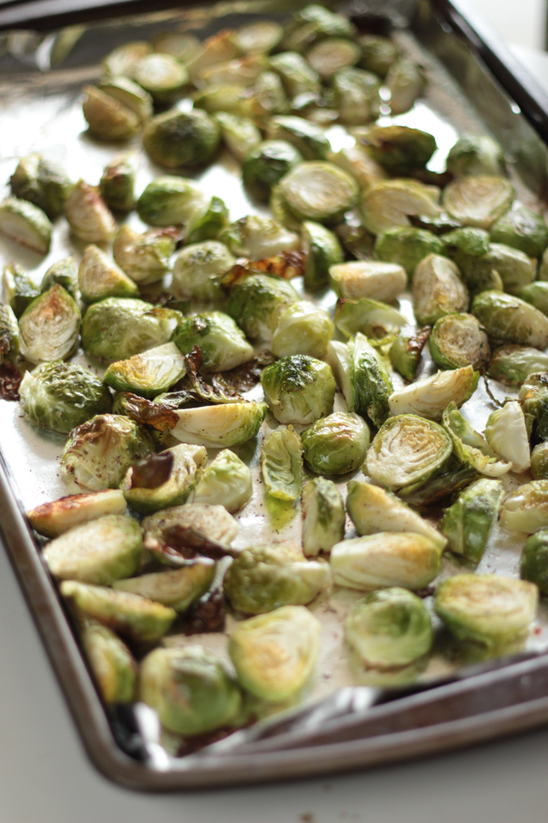 Vegan Pesto with Crispy Hearty Roasted Brussels Sprouts