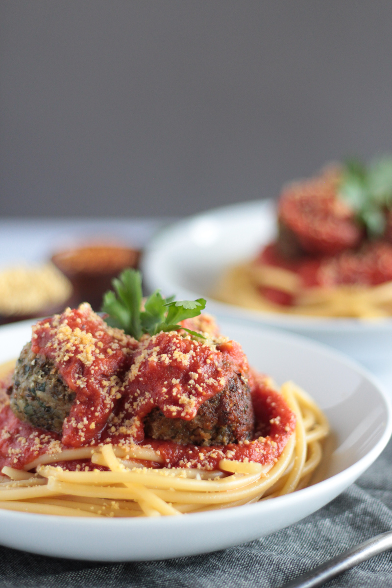 Easy Quick Vegan Traditional Plant-based Italian Lentil Meatballs