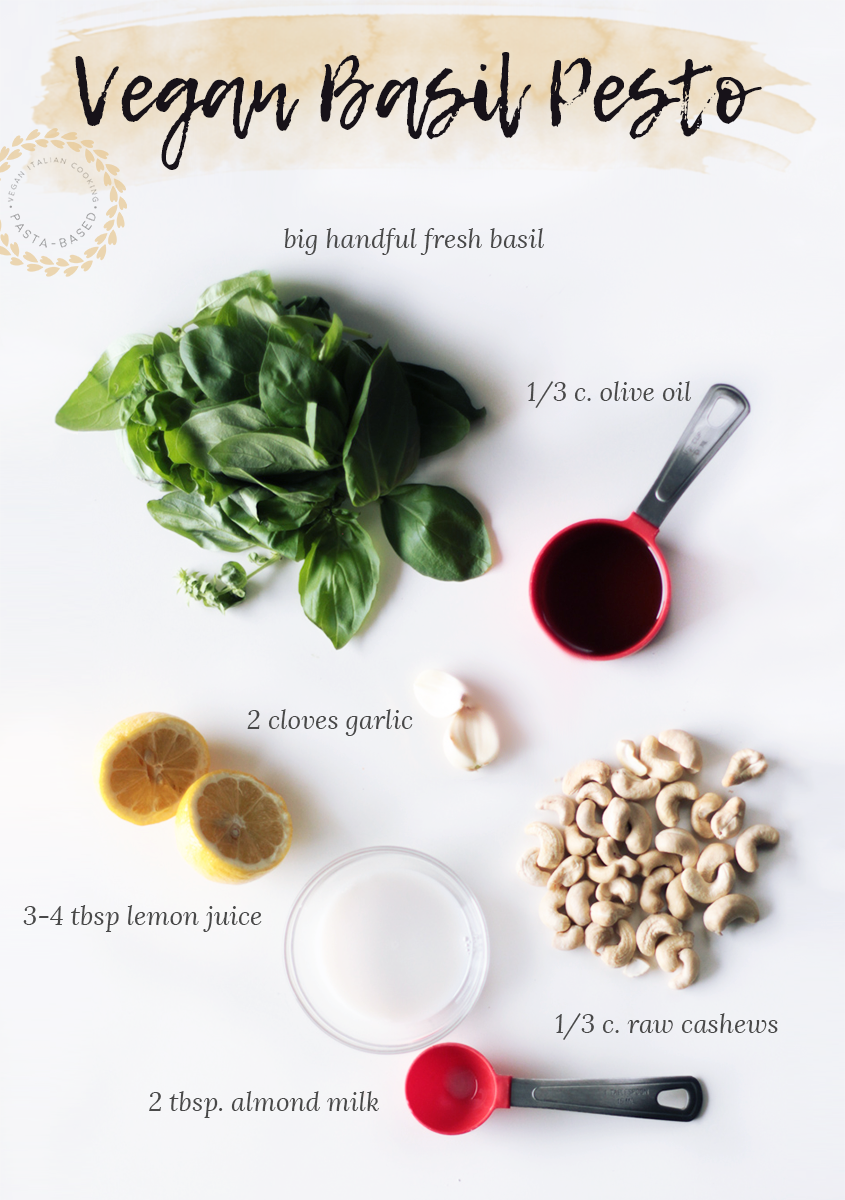 Totally Plant-Based Basil Pesto with Lemon Simple Ingredients