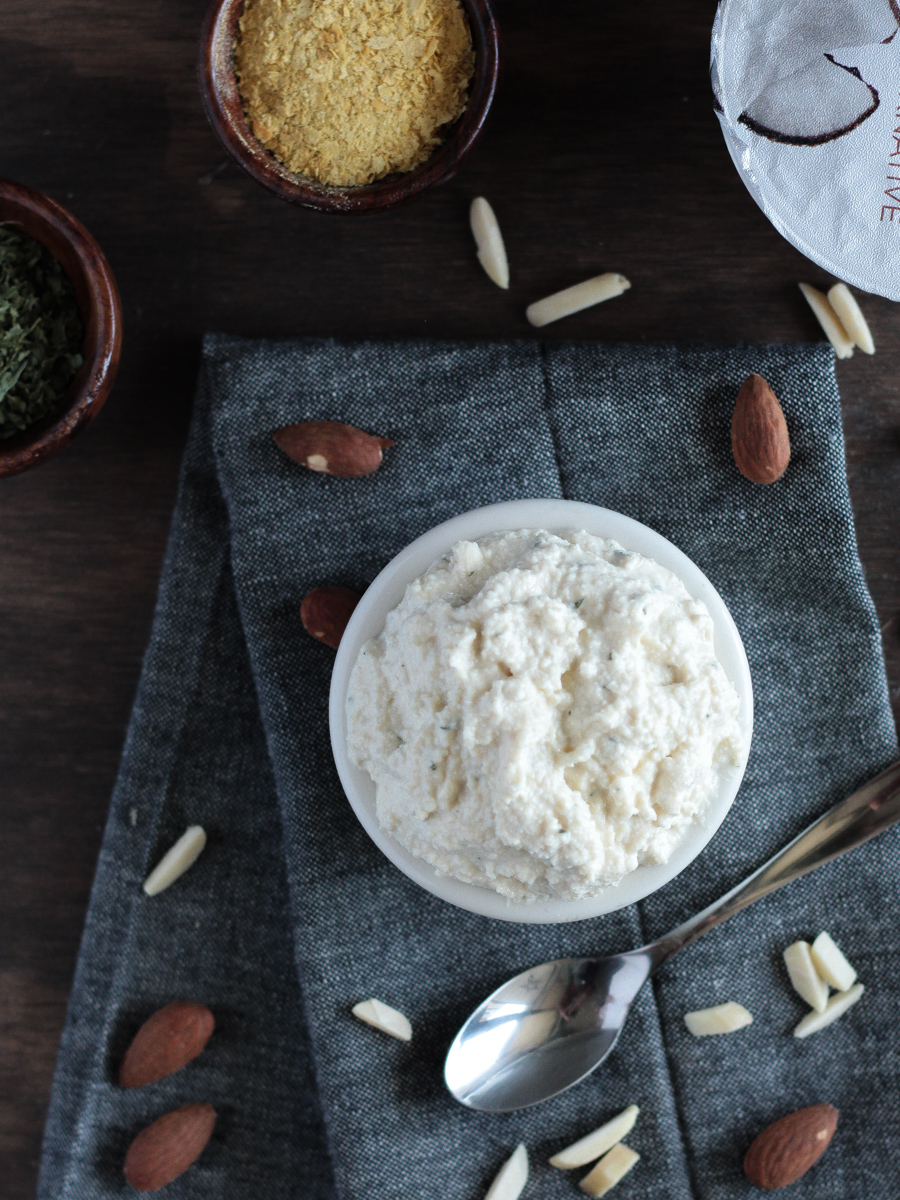 Vegan Ricotta Cheese made with Almonds, Tofu and Non-Dairy Yogurt