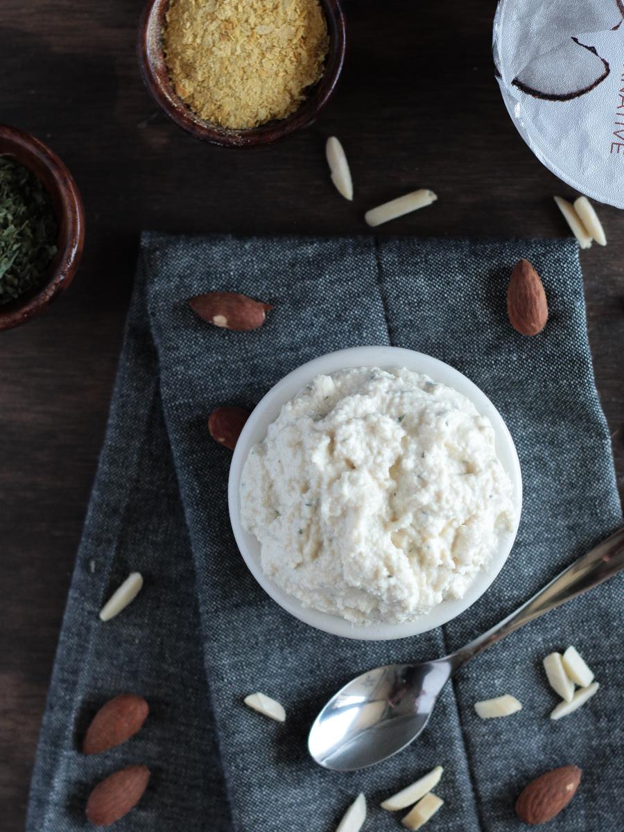 Vegan Ricotta Cheese made with Almonds, Tofu and Non-Dairy Yogurt
