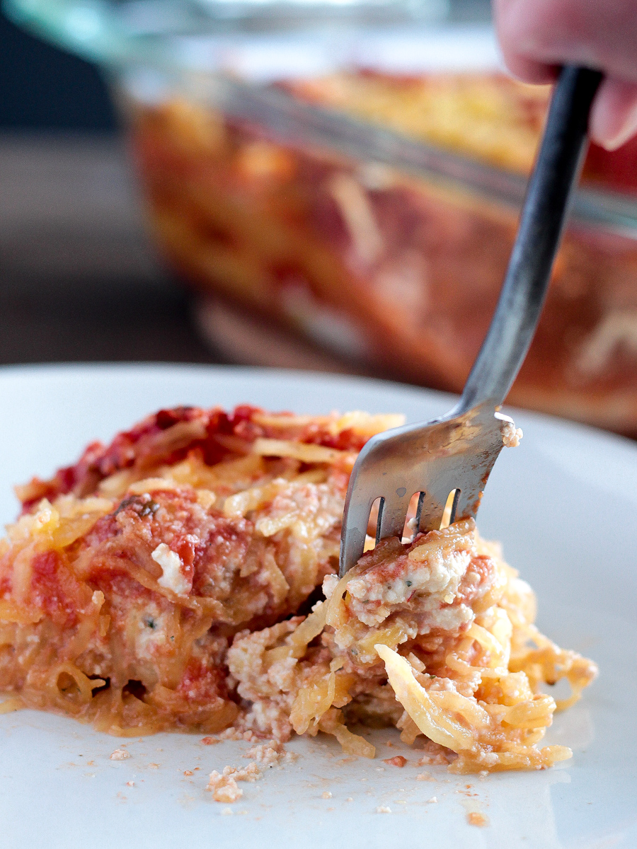 healthy and simple vegan spaghetti squash lasagna
