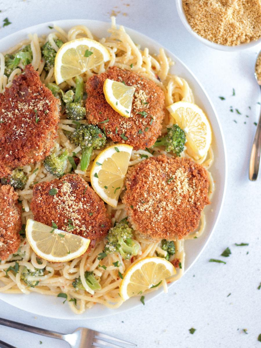 The BEST Chicken-Style Seitan Cutlets | Pasta-based Vegan