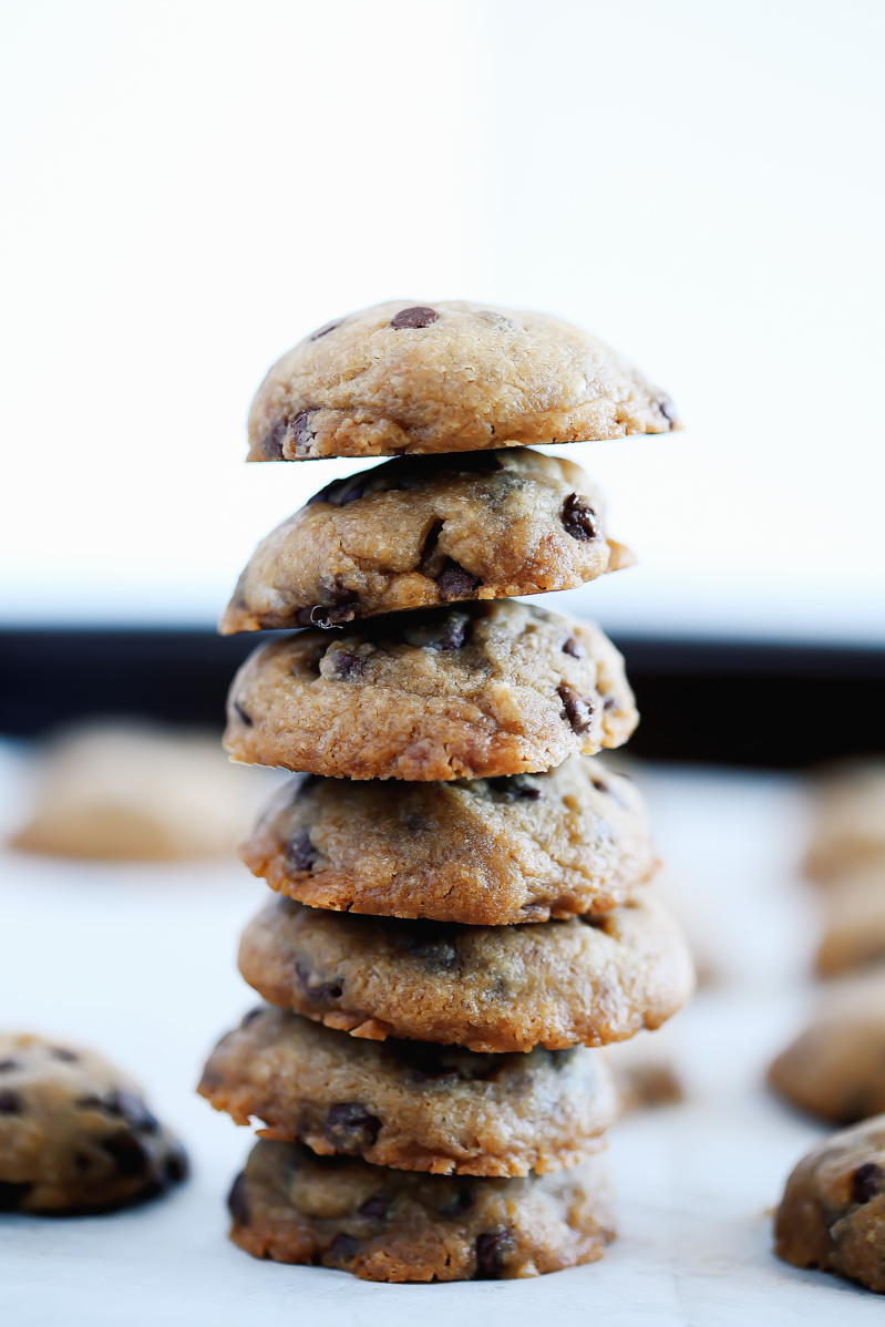 The BEST Chewy Vegan Chocolate Chip Cookies by Pasta-based.