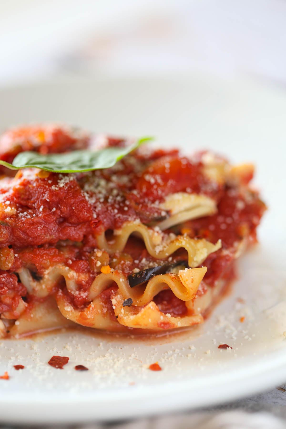 Italian Vegetable Vegan Lasagna with Lentil Bolognese and Roasted Vegetables Easy Almond Tofu Ricotta Recipe