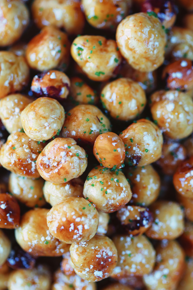 Vegan Struffoli / Italian Honey Balls by Pasta-based. Sticky vegan Bee Free honee covering dough balls.
