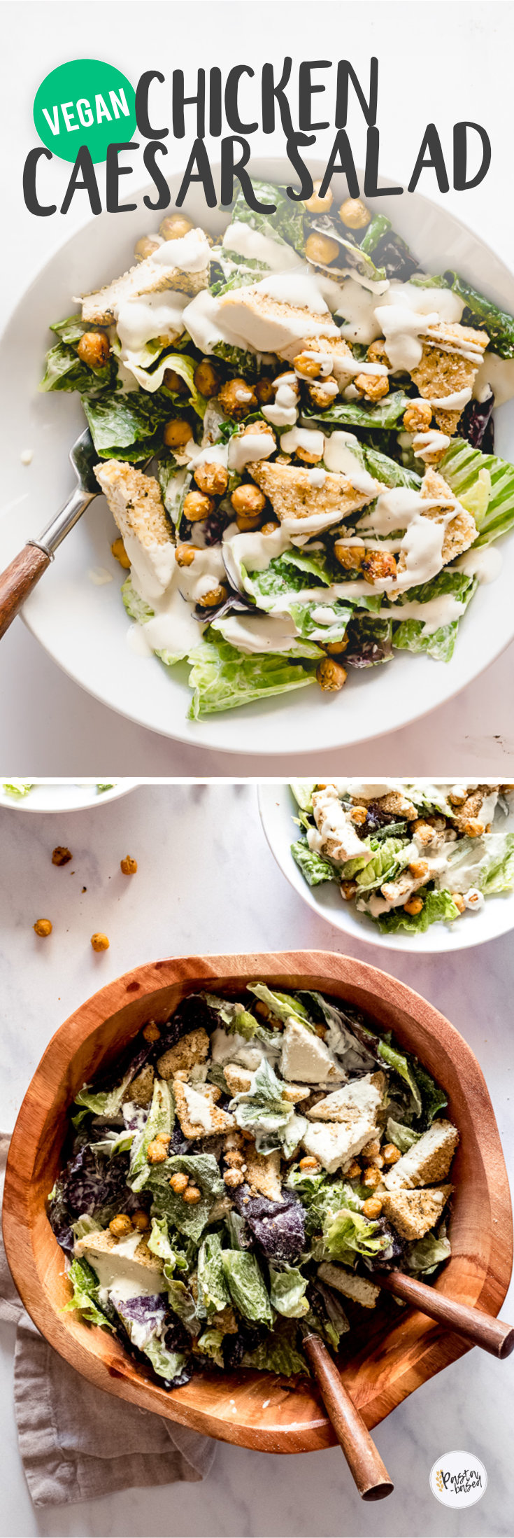 Vegan Chicken Caesar Salad by Pasta-based.