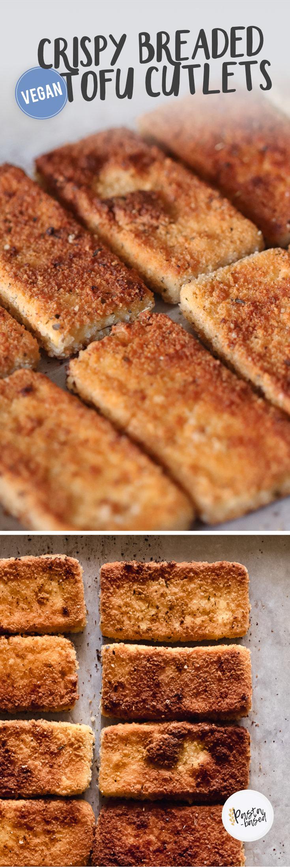 Crispy Breaded Vegan Chicken-Style Tofu Cutlets by Pasta-based.